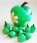 Яблочки зеленые ( счетный материал)